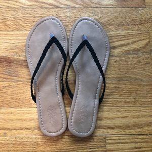 3/$20 | Charlotte Russe | Black Braided Sandals